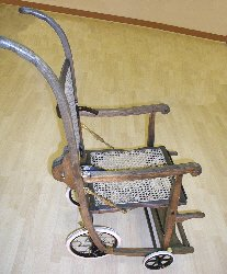 Victorian folding chair before restoration