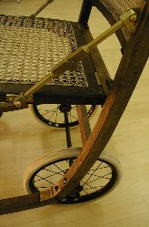 Victorian folding chair after restoration