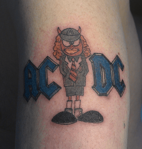 tattoo rock ac/dc