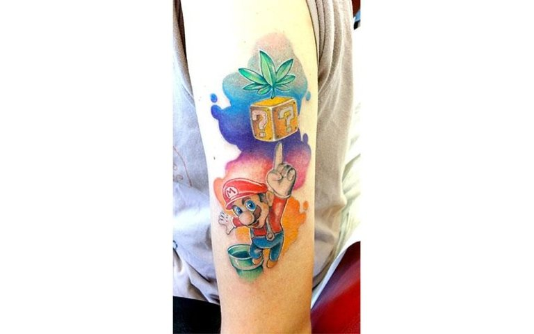 tattoo super mario new school