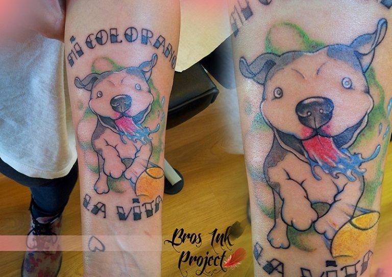 tattoo cartoon dog