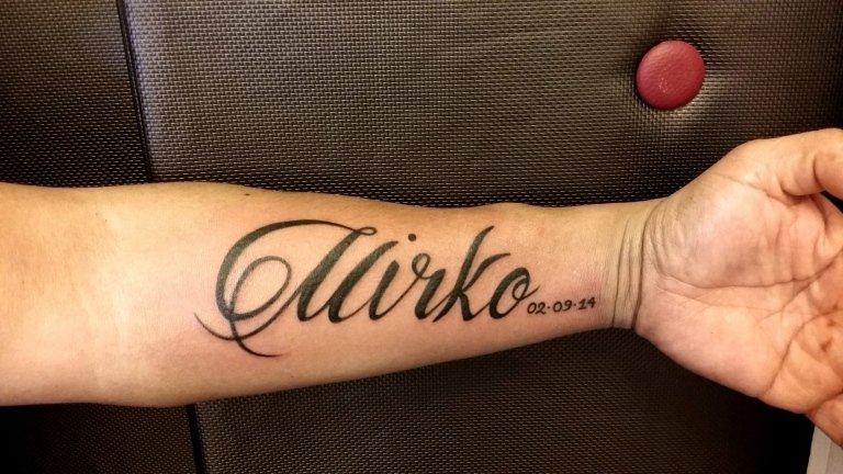mirko script tattoo