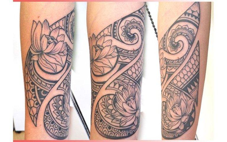 tattoo maori fiori