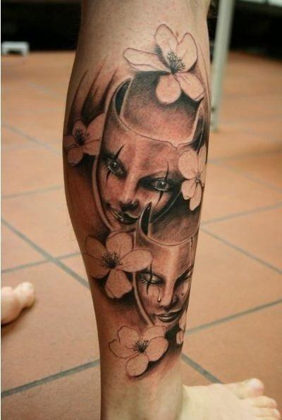 tattoo mask flower