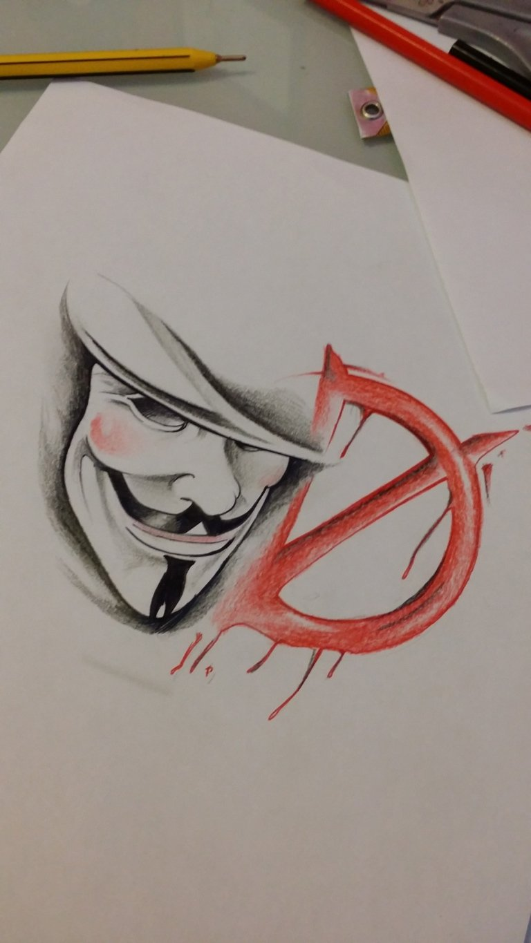 sketch v for vendetta