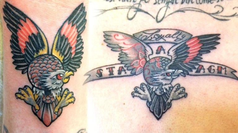 tatuaggio aquila old school