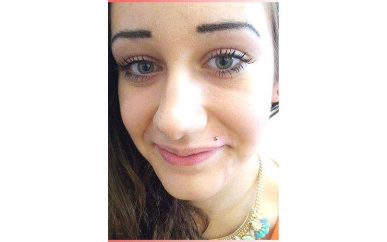 monroe piercing labbro