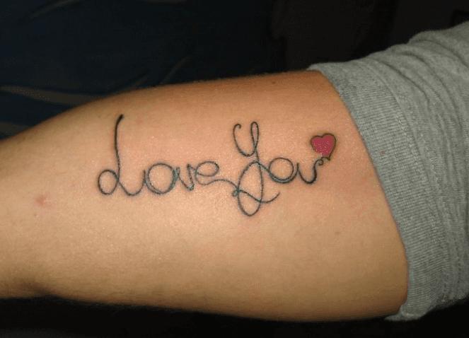 tattoo script heart