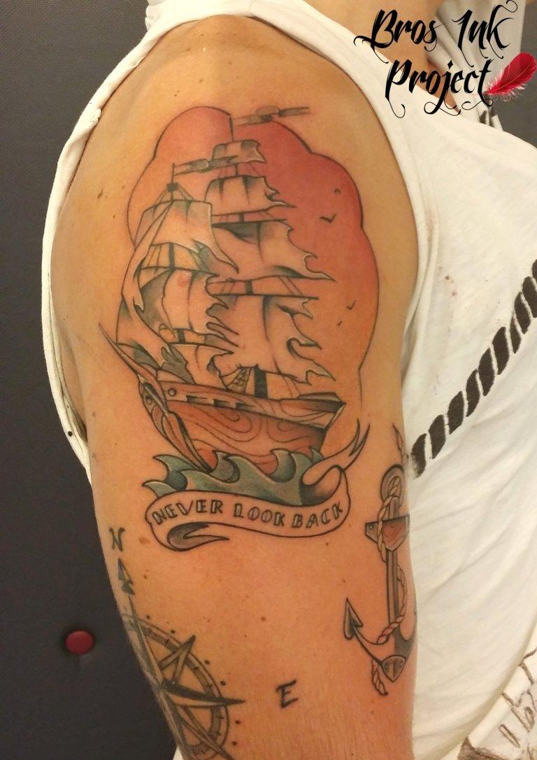 galeone tattoo