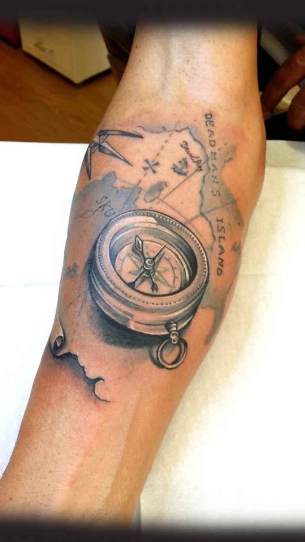 tatuaggi-bussola-compass