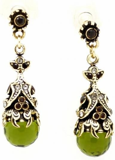 orecchini pietre verdi