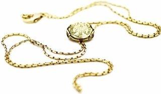 collana ottone dorato