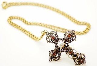 collana croce perla