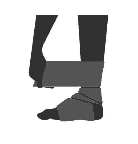 Icona bendaggio caviglia