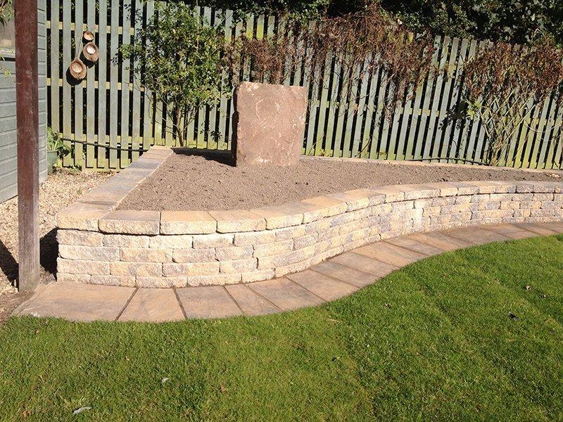 garden area paving