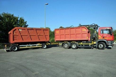 camion per trasporto rifiuti