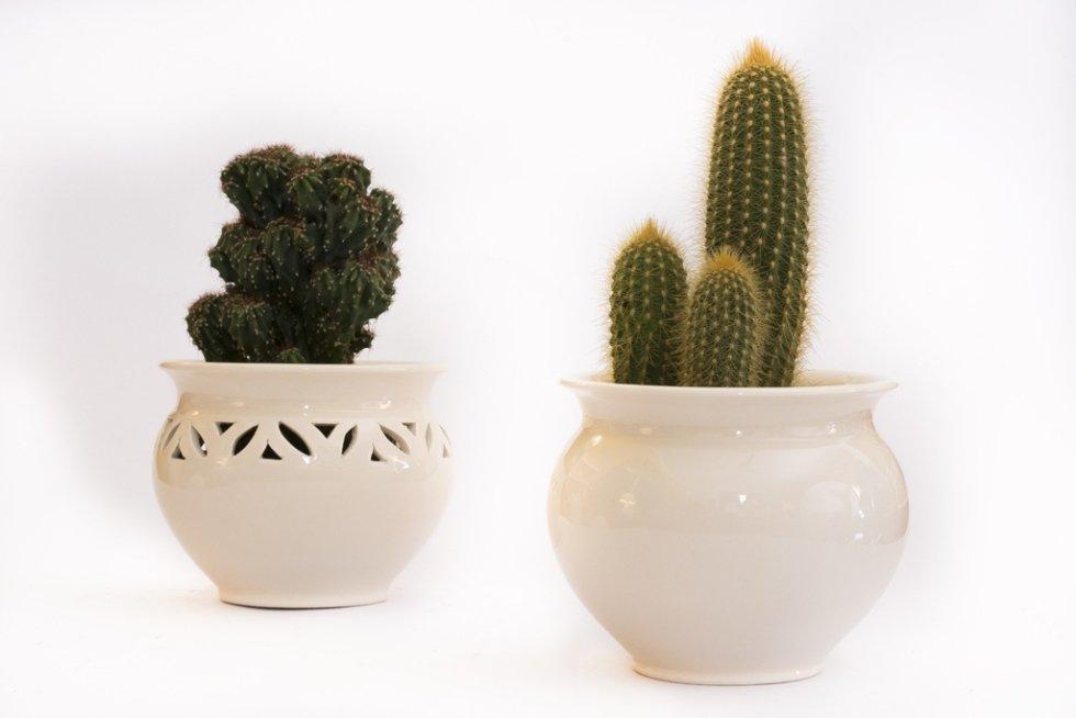 Vasi i ceramica bianca