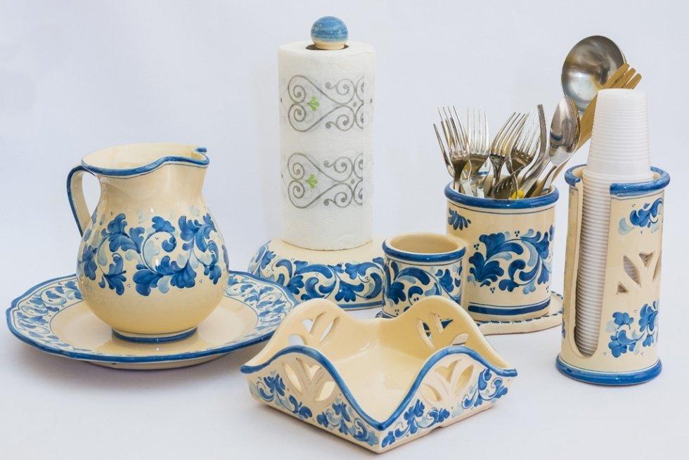 porta tovaglioli in ceramica