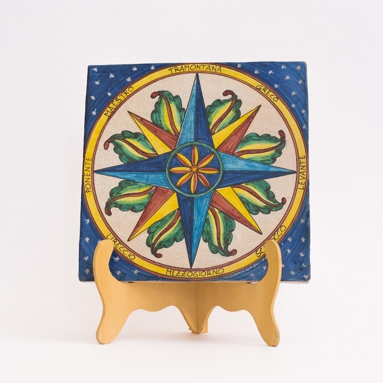 pannello in ceramica decorata