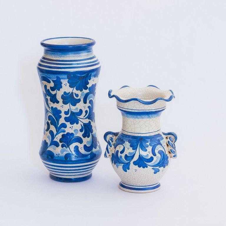vaso blu in ceramica