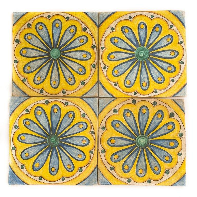 mattoni in ceramica dipinta a mano