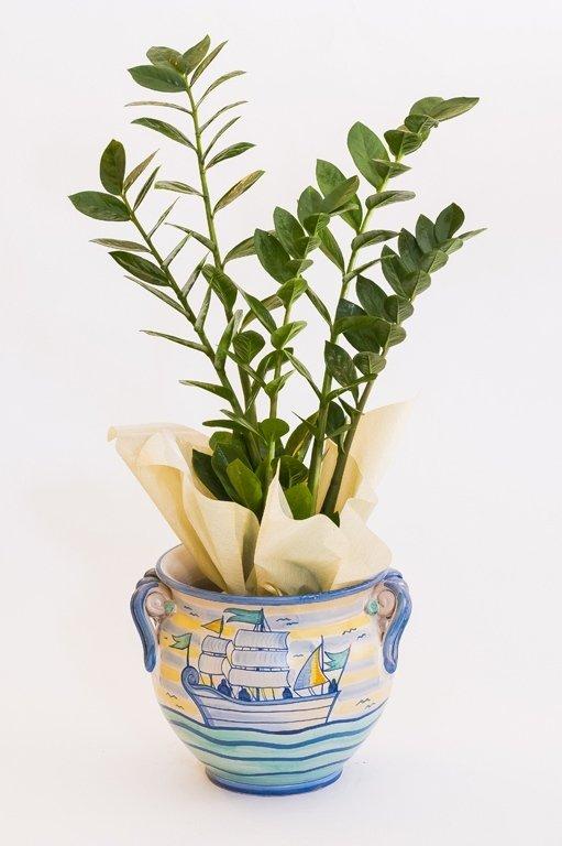 Vaso blu decorato