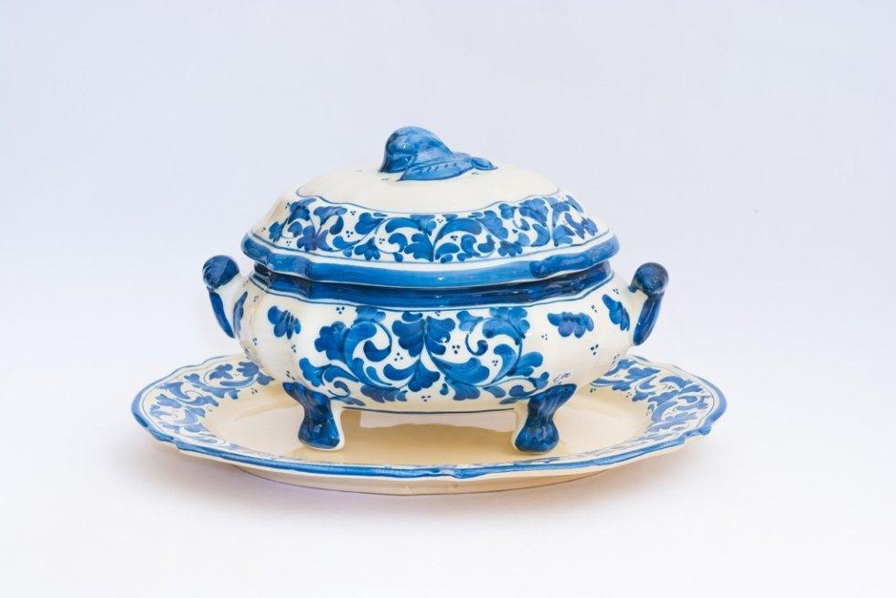 zuppiera ceramica decorata