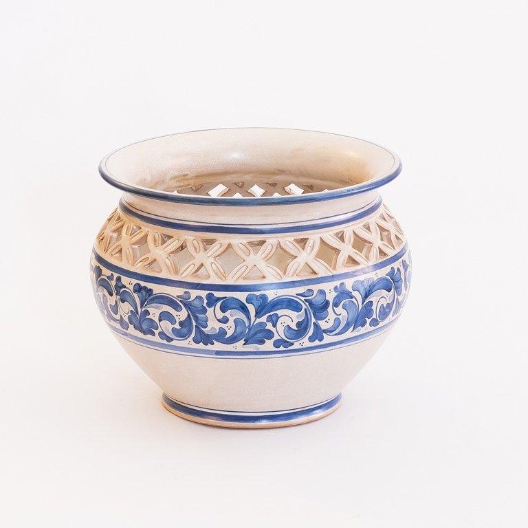 Vaso bianco e blu