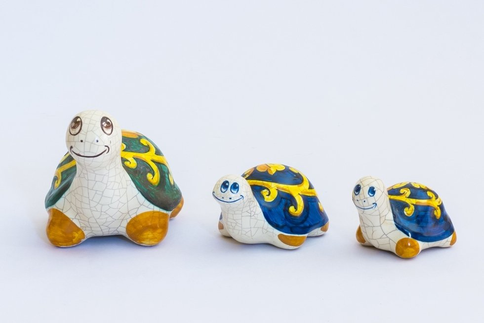 Tartarughe di ceramica