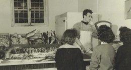 vendita di pesce, merluzzo, gamberi