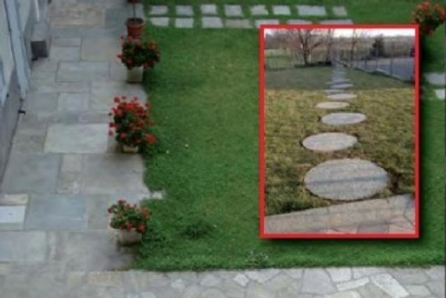 Bodenbelag mit ungleichmäßigen Platten