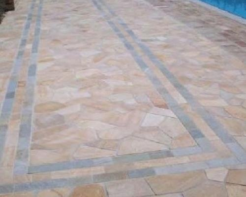 Barge quartzite flooring