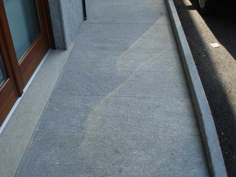 Grey flamed flooring