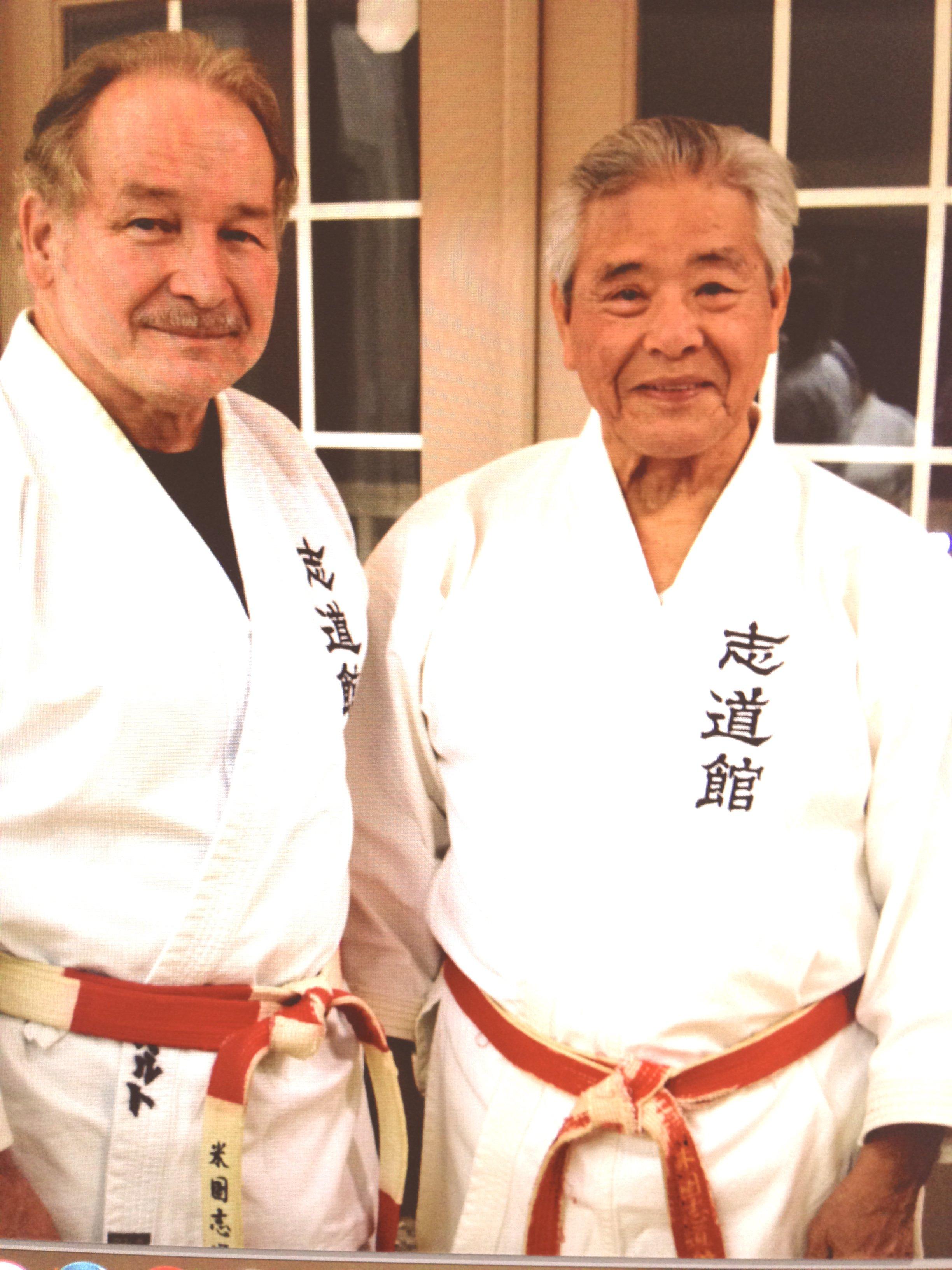 Grand Master Seikichi Iha, 10th Degree, and Roberto Curtis, 8th Degree