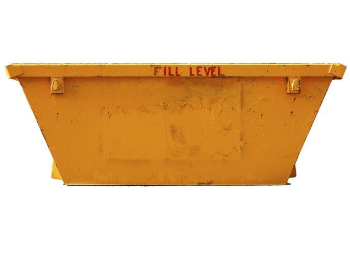skip bin yellow