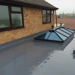 Roof for building extensions