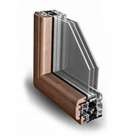 Sistema a battente alluminio/legno