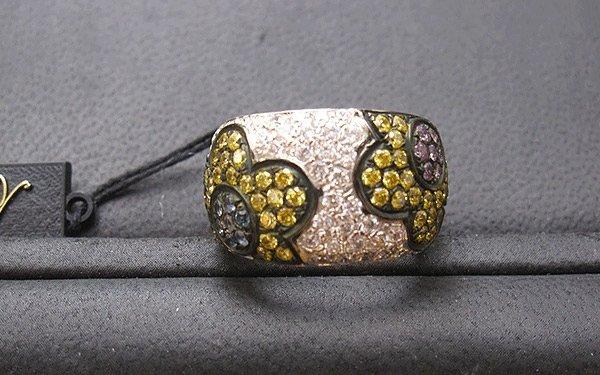 rif. A138 - anelli a fascia grande pavè