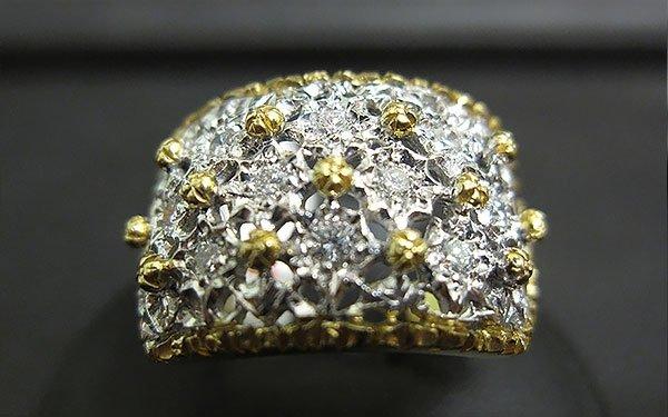 anello grosso con brillanti