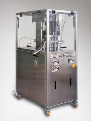GP8 Duplex - double layer 8-station rotary tablet press for tablets up to 25mm in diameter