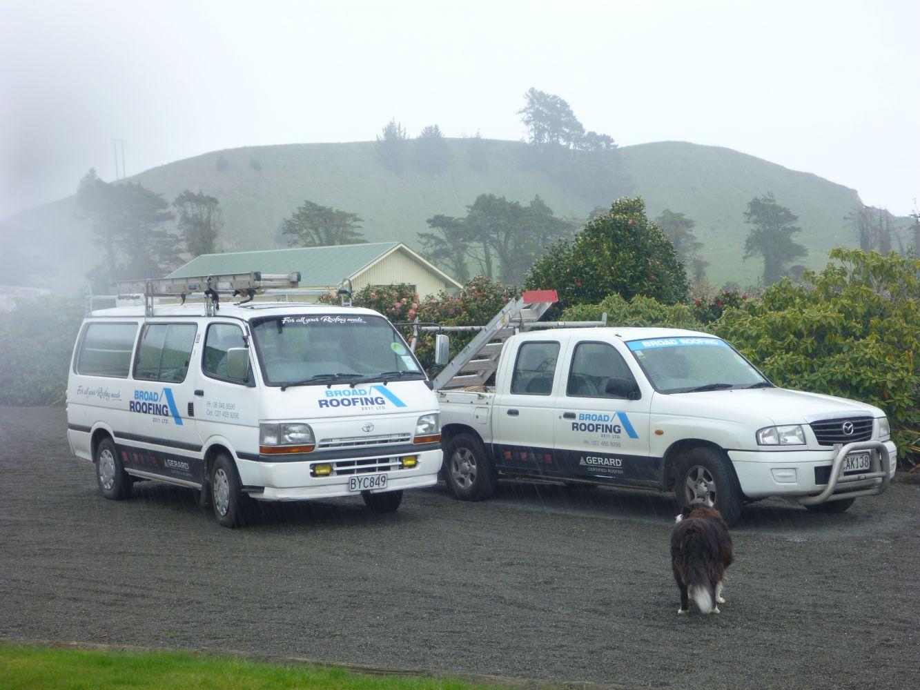 Broad Roofing (2011) Ltd's vans