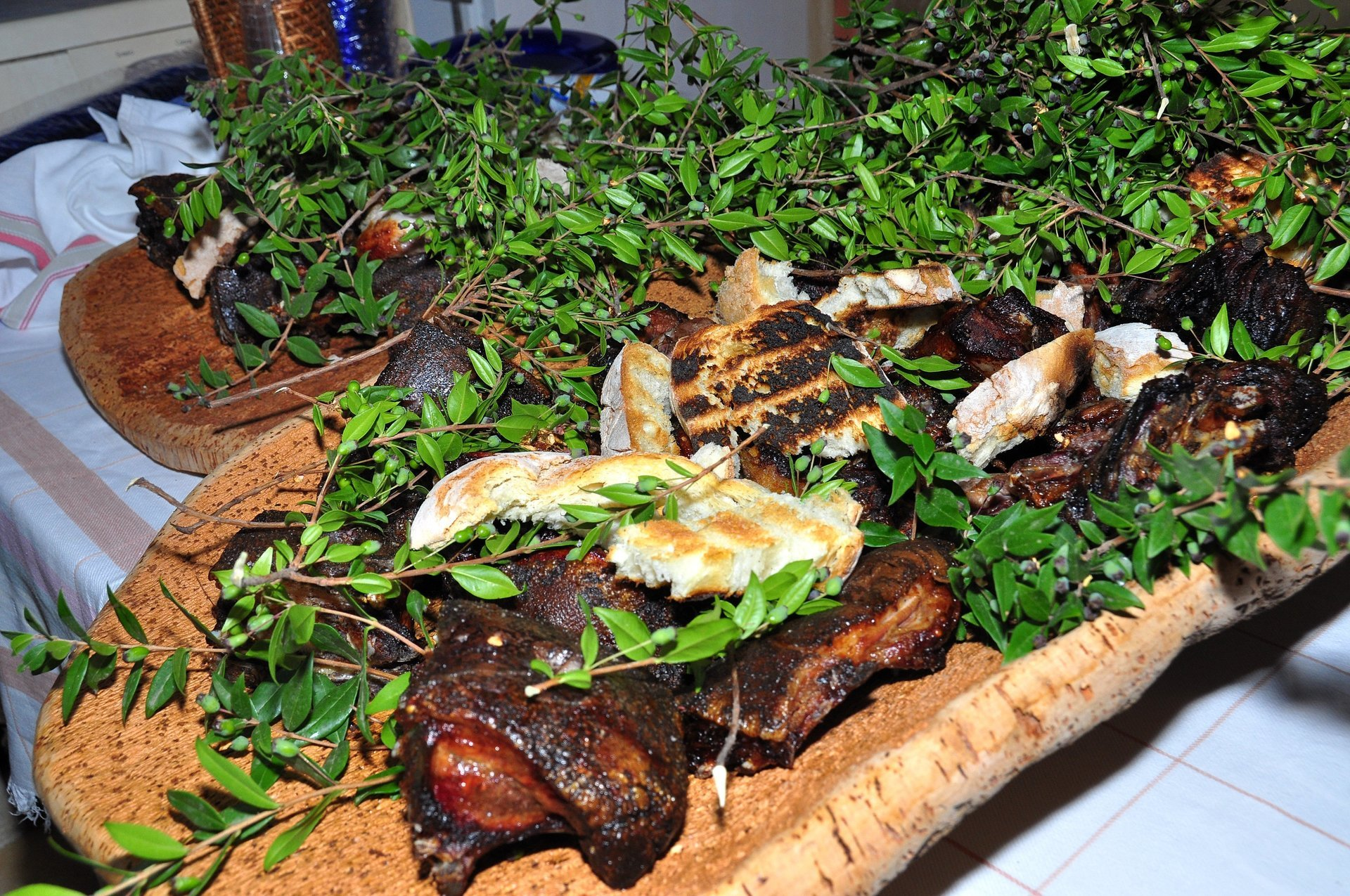 tagliata di carne con verdure grigliate