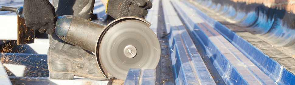 abrasive wheel being used in training