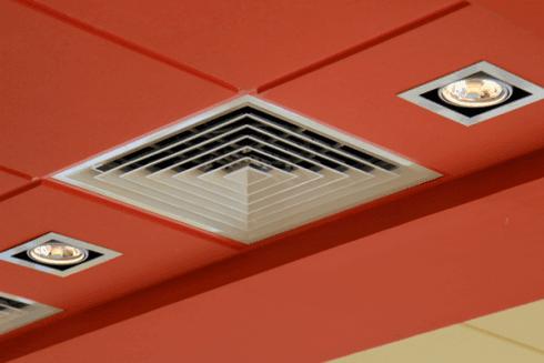Impianti condizionamento a soffitto
