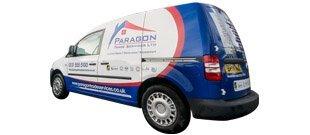 The Paragon Trade Services van