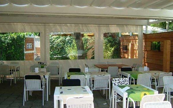 tende in pvc sala ristorante