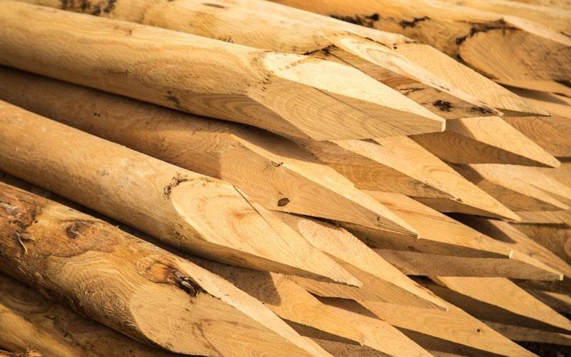 Produzione pali in legno