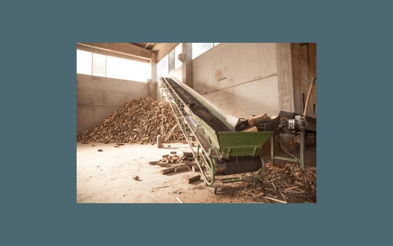 rullo trasportatore legna