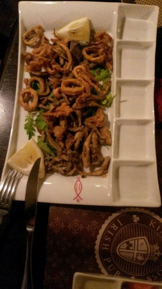 Mixed seafood fry