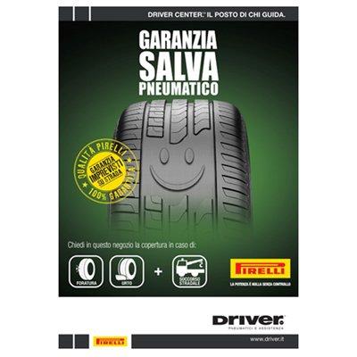 un depliant di Pirelli per Garanzia salva pneumatico